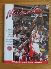 McDonald's All American High School Basketball Game March 29 2000 Program SIGNED