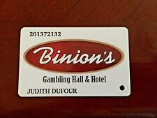 Players Slot Club Rewards Card Binion's Gambling Hall & Hotel Las Vegas NV