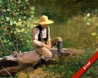 THE WHITTLING BOY WINSLOW HOMER PAINTING FINE ART REAL CANVAS GICLEE 8X10 PRINT