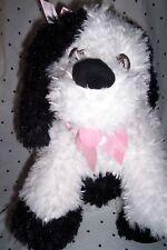 "Toby N.Y.C. Black White Puppy Dog Handbag 20"" Plush Soft Toy Stuffed Animal"