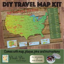 DIY US National Parks Push Pin Travel Map Kit