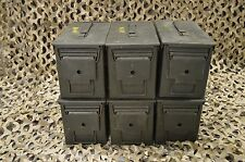 6 PACK 50 Cal M2A1 AMMO CAN COMPLETELY REFURBISHED GREAT CONDITION FREE SHIPPING