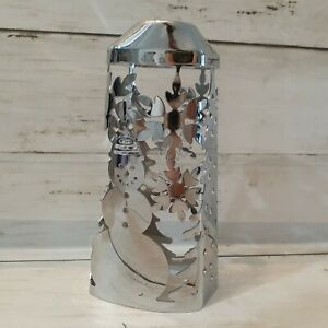 OLD STYLE Bath & Body Works Soap Sleeve Cover Holder Silver Snowman Snowflakes