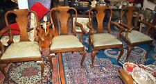 C1760 SET OF  4 RARE PHILADELPHIA QUEEN ANNE WALNUT ARMCHAIRS H=40.25""