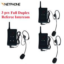 3pcs/Lot Full Duplex Bluetooth Football Soccer Referee Headset Intercom BT FBIM