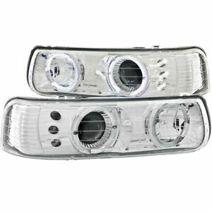 Anzo USA Projector Headlights CRM w/ Halo/LED for Chevy Silverado/Tahoe 99-06