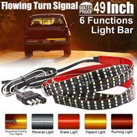 "324 LED 49"" 3Row Truck Tailgate Signal Light Reverse Brake Stop Tail Bar Strip"
