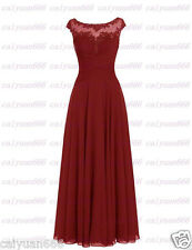 New Long chiffon Bridesmaid Formal Ball Gown Party Cocktail Evening Prom Dresses