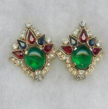 Jewels of India Crown Trifari clip style earring Alfred Philippe  1965 Beautiful