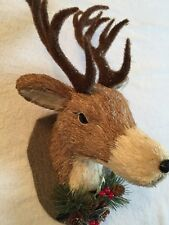 ARTIFICIAL DEER HEAD WALL HANGING CHRISTMAS DECORATION