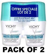 Vichy 48H Intensive Anti-perspirant anti-white and yellow mark deodorant 2x50ml
