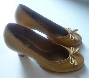 Clarks Bombay Lights Schuhe Leder yellow Gr. 38 Damen Pumps