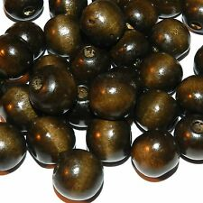 WXL651L2 Dark Brown 16mm Round Rondelle Wood Beads 16-oz Package (280pcs)