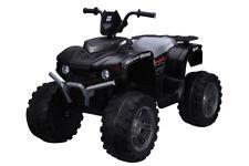 Twin Motor Quad Bike - Black - 12V Kids' Electric Toy Ride On