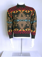vtg 90s UNITED COLORS OF BENETTON indian southwest tribal native AZTEC sweater S
