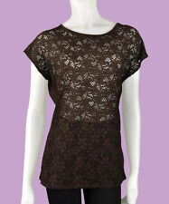 Lace Crew Neck Semi Fitted Casual Tops & Shirts for Women