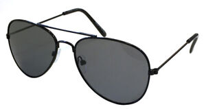 Kids Unisex Aviator Pilot Thin Metal Black Sunglasses With UV 400 Production
