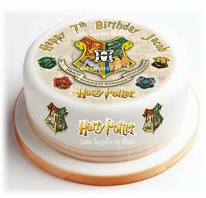 **Precut** Icing Harry Potter Personalised 15cm Cake Topper & 15 Extra Toppers