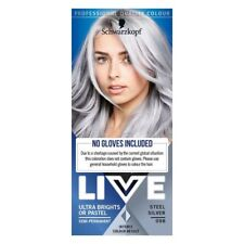 Schwarzkopf LIVE Ultra Brights Steel Silver Hair Dye Colour 098