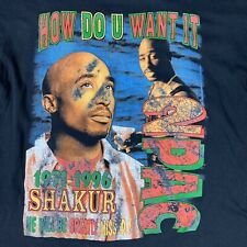 Vtg RIP Tupac Rap T Shirt Sz XL Death Row Biggie Wu Tang Method Man Raekwon 90s