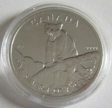 Kanada 5 Dollars 2012 Wildlife Puma 1 Oz Silber