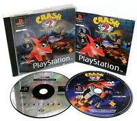 Crash Bandicoot 1 & 2 ~ PlayStation PS1 Game Bundle ~ PAL *Very Good Condition*