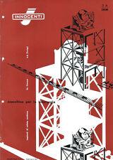 Depliant Brochure Innocenti Macchine per la Siderurgia 1960 ORIGINALE