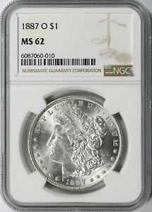 1887-O Morgan Silver Dollar $1 NGC MS62