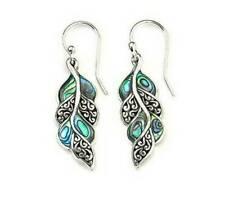 925 Silver Opal Gemstone Ear Hook Dangle Drop Earrings Elegant Jewelry Women HS