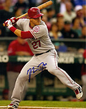 MIKE TROUT  ( L A ANGELS )  -  AUTOGRAPHED   5x7  --  GREAT PHOTO REPRINT