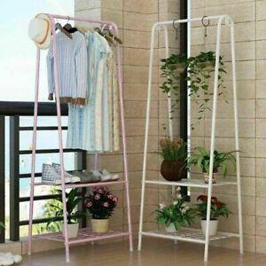 Clothes Rail Rack Garment Dress Hanging Display Stand Shoe Rack Storage Shelf UK