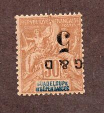 Colonies Françaises Guadeloupe  N°45f N** LUXE et signé cote 110 euros !RARE