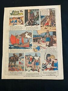 #48  PRINCE VALIANT by Harold Foster Lot of 2 Sunday Comic Strips 1965