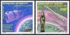 """Yibuti 1983 espacio/Tereshkova/""""Explorer 1""""/""""Vostok VI""""/cohetes 2 V Set (n42147)"""