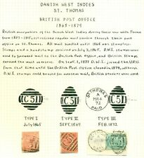 DANISH WEST INDIES CANCEL Collection, 50 diff incl. British, ring types & towns