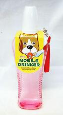 Mobile Dog Animal Cat Drinker Travel Bottle Red or Blue