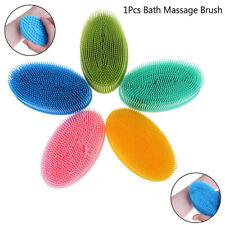 1X Soft Silicone Body Brush Bath Shower Sponges Massage Skin Tools Massage Br hi