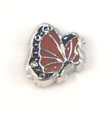 Floating Charms Mini Charm Living Memory Locket Pendant Butterfly Red 8mm