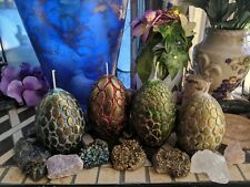 Khaleesi dragon egg candle, hand made carved egg of life, dragon egg home decor