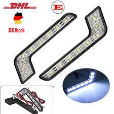 2x 8 LED Tagfahrlicht L-Form Tagfahrleuchten Scheinwerfer TÜV R87 DRL TFL lampe