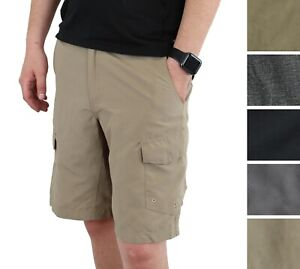 Magellan Outdoors Men's Fishing Cargo Shorts Water Repellent 6-Pocket Sport