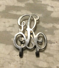 "Vintage Antique Apollo Silver Co. Sterling Monogram ""R"" Money Clip"