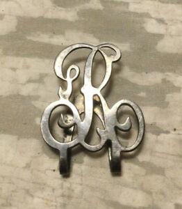 """Vintage Antique Apollo Silver Co. Sterling Monogram """"R"""" Money Clip"""