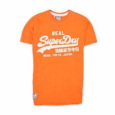 Superdry Herren T-Shirt Shirt Classic Gr.S Sportswear Vintage Orange 90909