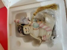 "Lenox 2004 Classic Snowman Ornament Collection 24k ""Candy Cane Snowman"""