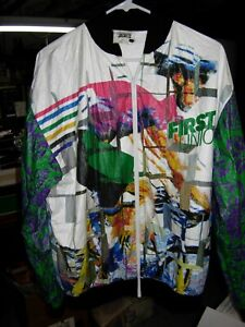 Vintage Tour DuPont First Union Professional Cycling Tyvek Jacket - Large/XL