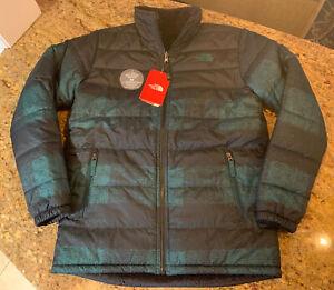North Face Mount Chimborazo Reversible Jacket Buff Check Night Green XL 18/20