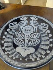 Decorative Wall Plate - Peacocks/Flower - Made in Germany - Blues