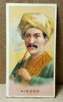 """Vintage 1880s N33 Allen & Ginter World's Smokers """"Hindoo"""" Trading Card"""