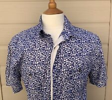 Galliano Short Sleeved Patterned Shirt Size M - L Excellent Condition